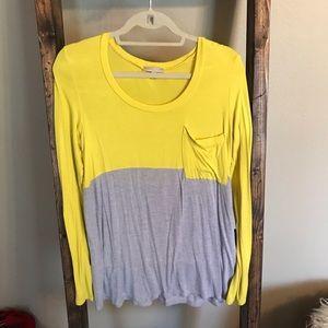 Long Sleeve Two Tone T-shirt